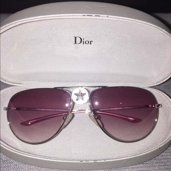 d878acc57d4 Dior Accessories - Christian Dior Pink Aviator Sunglasses